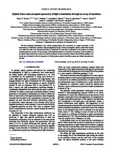 Optical Tamm state and giant asymmetry of light ... - APS Link Manager