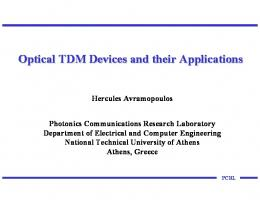 Optical TDM Devices and their Applications - Photonics ...