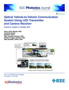 Optical Vehicle-to-Vehicle Communication System ... - IEEE Xplore
