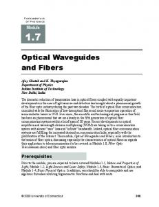 Optical Waveguides and Fibers - SPIE