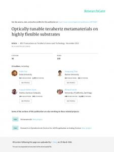 Optically tunable terahertz metamaterials on highly ...