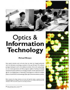 Optics & Information Technology