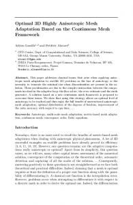 Optimal 3D Highly Anisotropic Mesh Adaptation ... - Semantic Scholar
