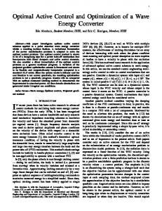 Optimal Active Control and Optimization of a Wave Energy ... - Spiral