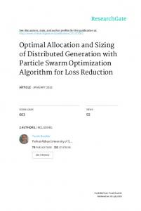 Optimal Allocation and Sizing of Distributed ...