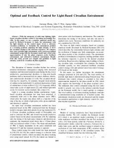Optimal and Feedback Control for Light-Based ... - IEEE Xplore