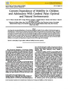 Optimal and Natural Environments - Wiley Online Library