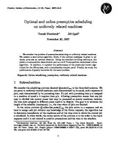 Optimal and online preemptive scheduling on uniformly ... - CiteSeerX
