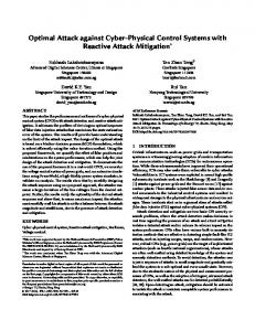 Optimal Attack against Cyber-Physical Control Systems with Reactive ...