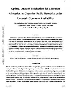 Optimal Auction Mechanism for Spectrum ... - Semantic Scholar