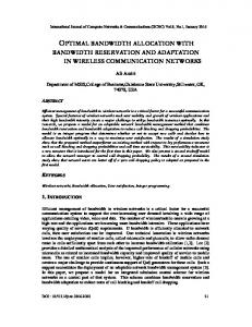 optimal bandwidth allocation with bandwidth reservation and ...