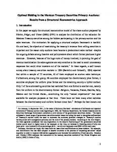 Optimal Bidding in the Mexican Treasury Securities Primary ...www.researchgate.net › publication › fulltext › Optimal-B