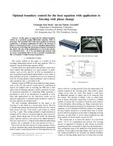 Optimal boundary control for the heat equation with application ... - Core