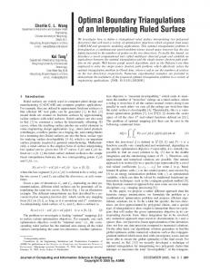 Optimal Boundary Triangulations of an
