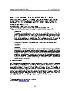 Optimal Channel profit under the conditions of
