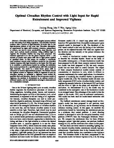 Optimal Circadian Rhythm Control with Light Input for ... - IEEE Xplore