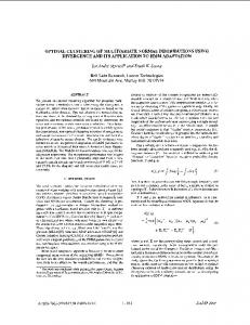 Optimal clustering of multivariate normal distributions using ...