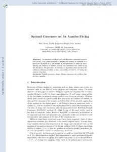 Optimal Consensus set for Annulus Fitting
