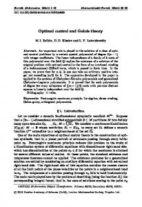 Optimal control and Galois theory