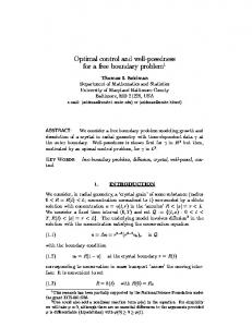 Optimal control and well-posedness for a free ... - Semantic Scholar