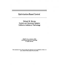 Optimal Control - Control and Dynamical Systems