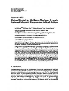 Optimal Control for Multistage Nonlinear Dynamic ... - Project Euclid