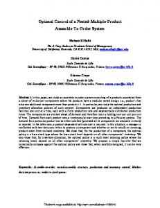 Optimal Control of a Nested-Multiple-Product ... - Semantic Scholar
