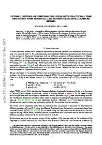 Optimal control of diffusion equation with fractional time derivative with