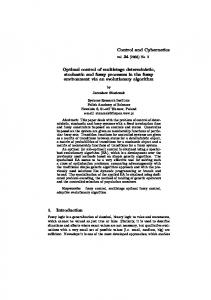 Optimal control of multistage deterministic, stochastic and fuzzy ...