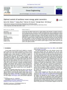Optimal control of nonlinear wave energy point