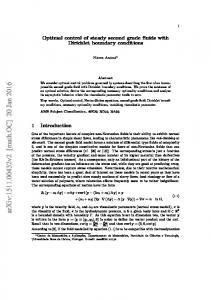 Optimal control of steady second grade fluids with Dirichlet boundary ...