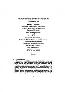 Optimal control of the spatial motion of a ... - Semantic Scholar