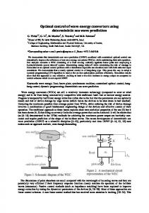 Optimal control of wave energy converters using deterministic sea ...