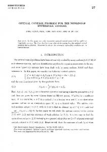 optimal control problem for the nonlinear hyperbolic systems 1 ...