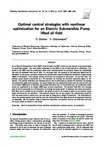 Optimal control strategies with nonlinear
