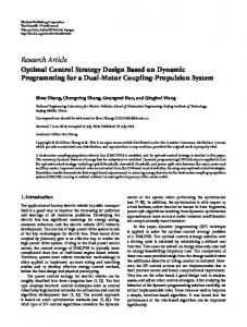Optimal Control Strategy Design Based on Dynamic Programming for ...