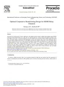 Optimal Cooperative Beamforming Design for MIMO Relay Channels
