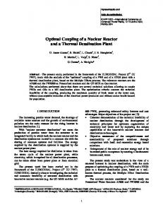 Optimal Coupling of a Nuclear Reactor and a Thermal
