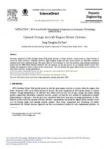 Optimal Design Aircraft Engine Mount Systems