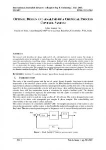 optimal design and analysis of a chemical process control system