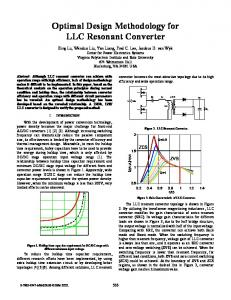 Optimal Design Methodology for LLC Resonant Converter - IEEE Xplore