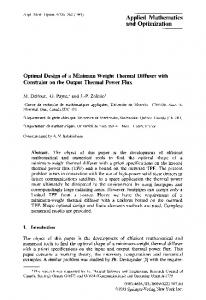 Optimal design of a minimum weight thermal diffuser with ... - GIREF
