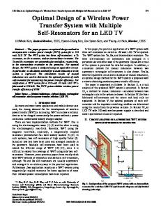 Optimal Design of a Wireless Power Transfer System ... - IEEE Xplore