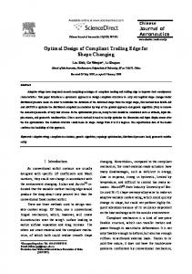 Optimal Design of Compliant Trailing Edge for Shape Changing - Core