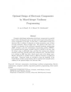 Optimal Design of Electronic Components by Mixed-Integer Nonlinear ...
