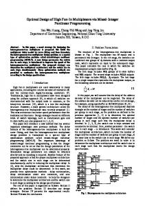 Optimal Design of High Fan-In Multiplexers via Mixed ...