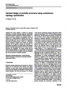 Optimal design of periodic structures using evolutionary topology