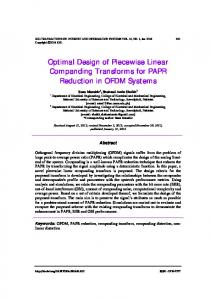 Optimal Design of Piecewise Linear Companding
