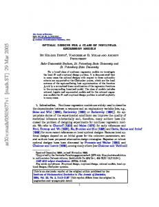 Optimal designs for a class of nonlinear regression models - arXiv