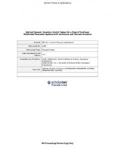 Optimal Dynamic Inversion Control Design for a Class of Nonlinear ...